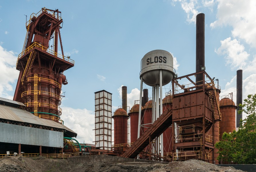 Sloss Furnaces, Birmingham AL, North view 20160714 1