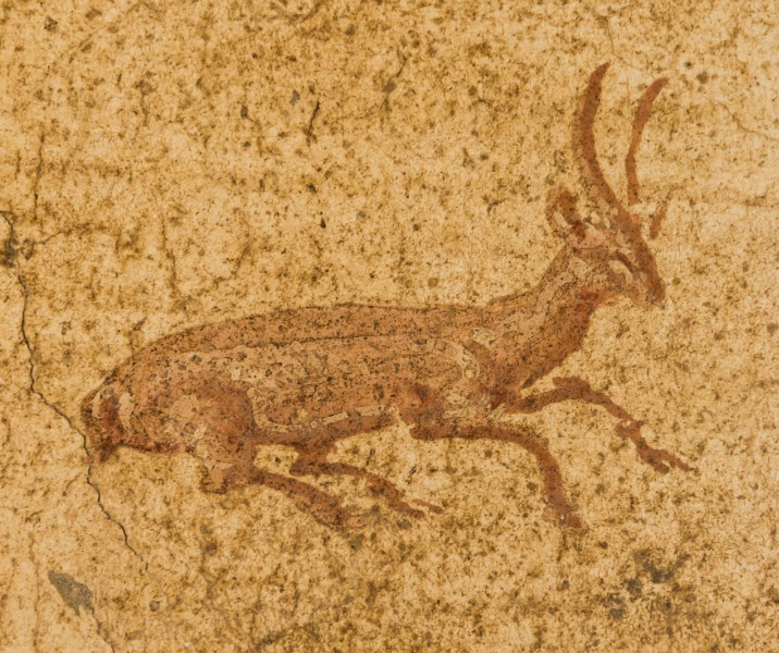 Small painted deer Villa Poppaea Oplontis Torre Annunziata Italy