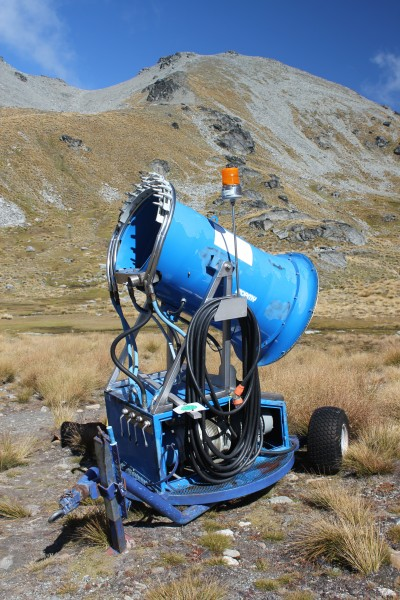 Snow-making machine, at Remarkables ski field