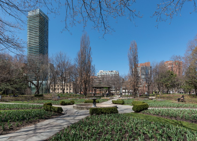 St. James Park, Toronto, South view 20170417 1