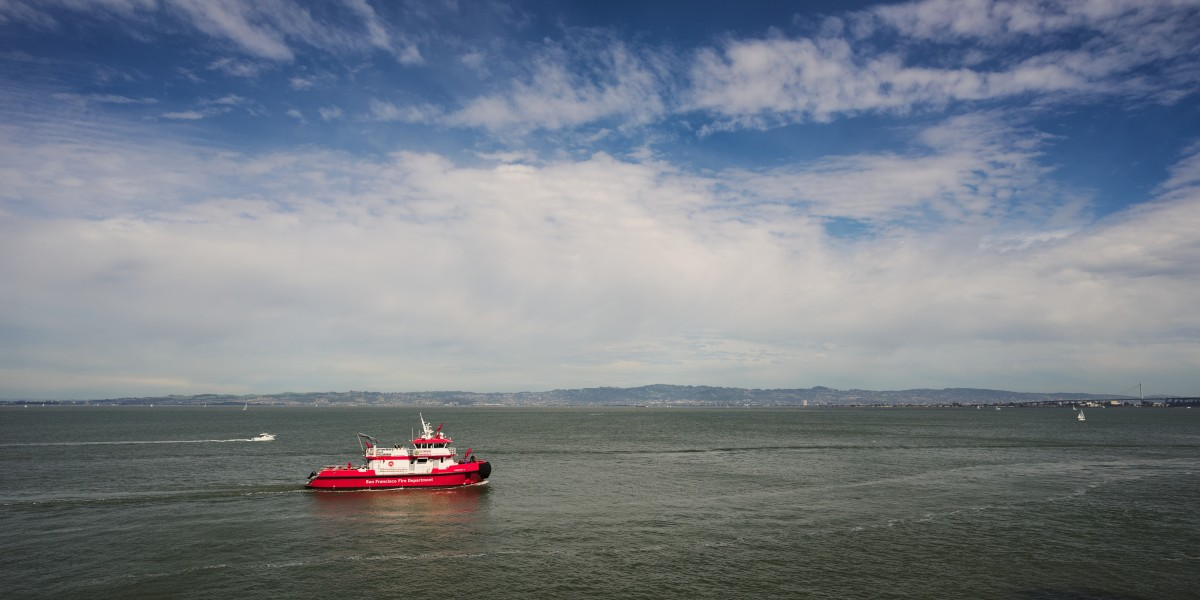 St Francis Fireboat in the San Francisco bay