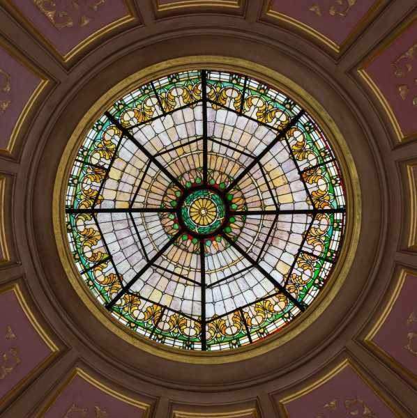 Stained Glass under Rotunda, Alabama State Capitol, Montgomery 20160713 1