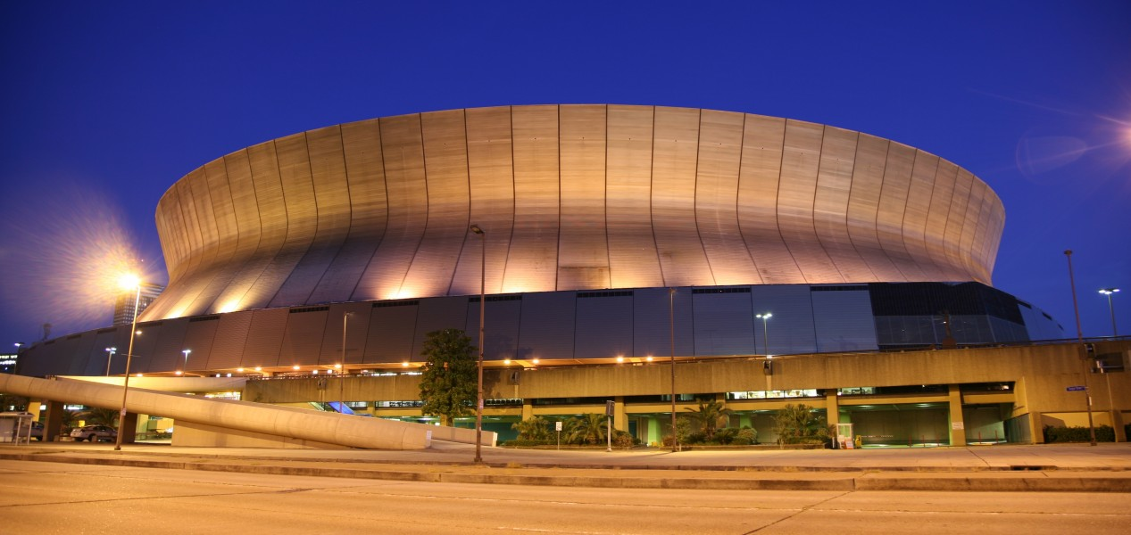 Superdome night
