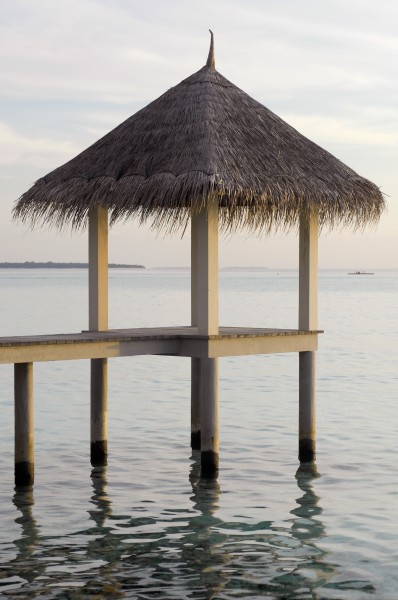 Thatched-roof in the Maldive Islands 01