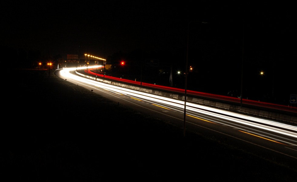 The A12 near Veenendaal by night