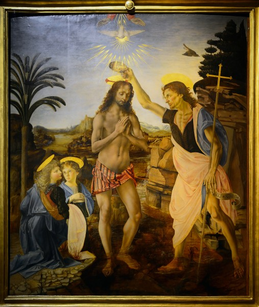 The Baptism of Christ (Verrocchio & Leonardo) Full Version