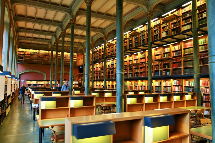 The National Library of Sweden - Kungliga biblioteket Stockholm - lesesalen - reading hall