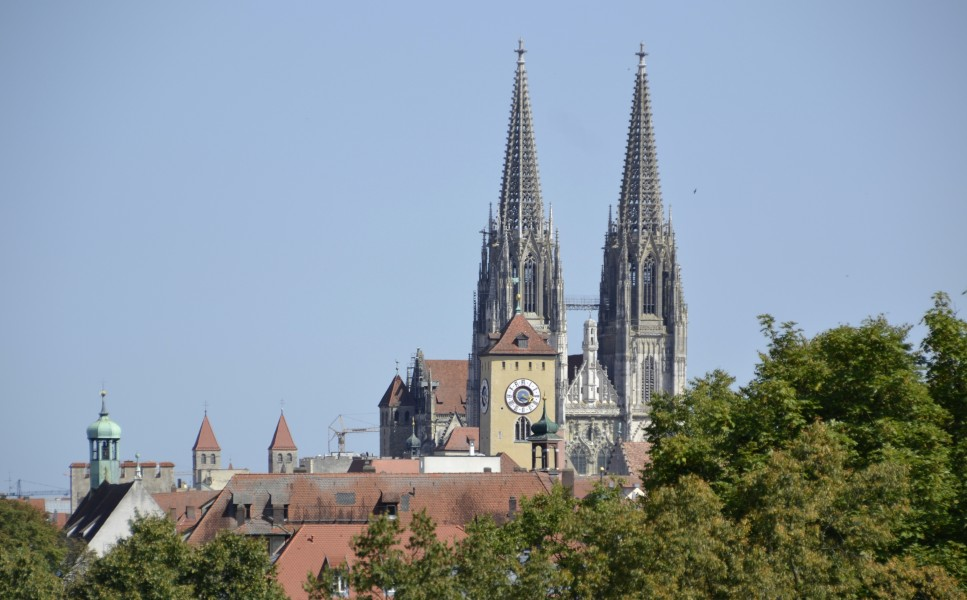 The towers of Regensburg