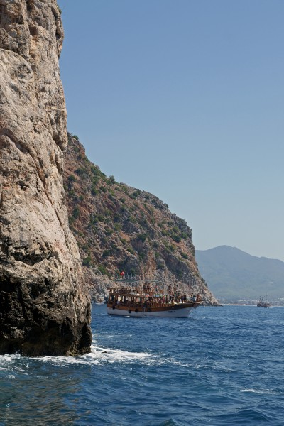 Tip of the Alanya peninsula from sea