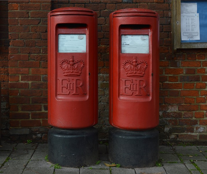 Two postboxes in Hartley Wintney