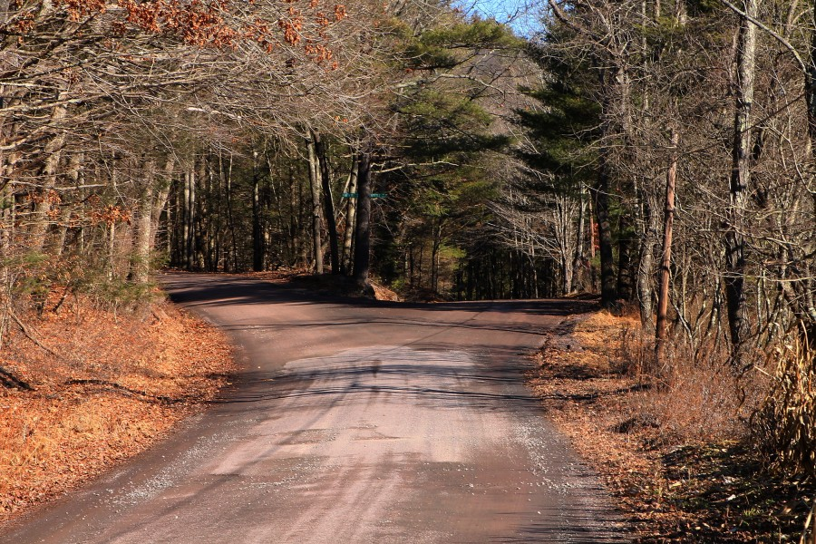 Two roads forking off in Luzerne County, Pennsylvania