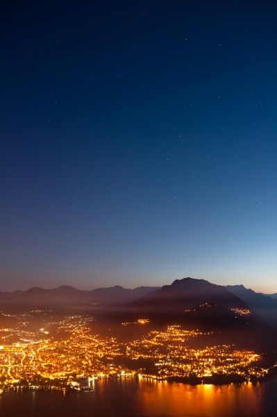 Ursa Major above Lugano