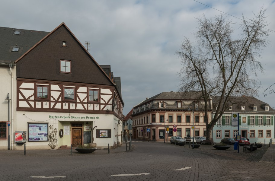 View of Erbach im Rheingau, showing market place and town hall 20150123 2