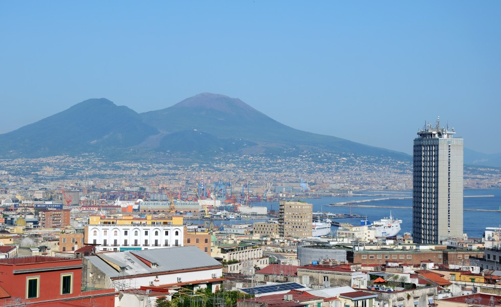 View of Naples with Vesuvio