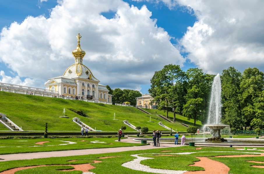View to the Lower Park of Peterhof 03