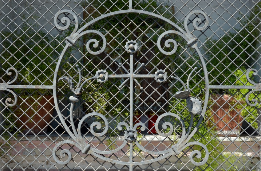 Wayside shrine St.-Pöltner-Straße, Herzogenburg - wrought iron door