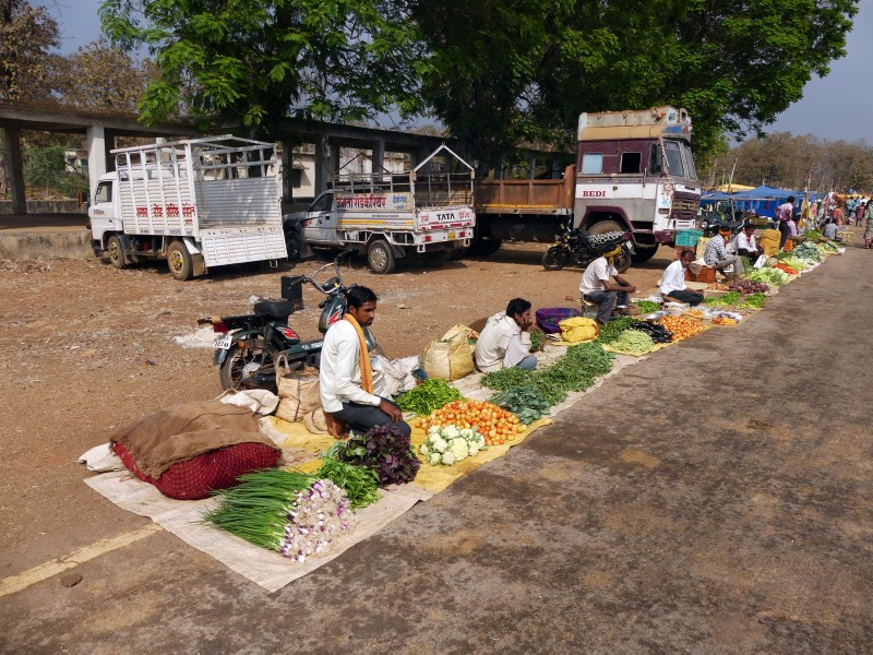 Weekly market at the junction of Chattisgarh and Madhya Pradesh AJTJ P1090664