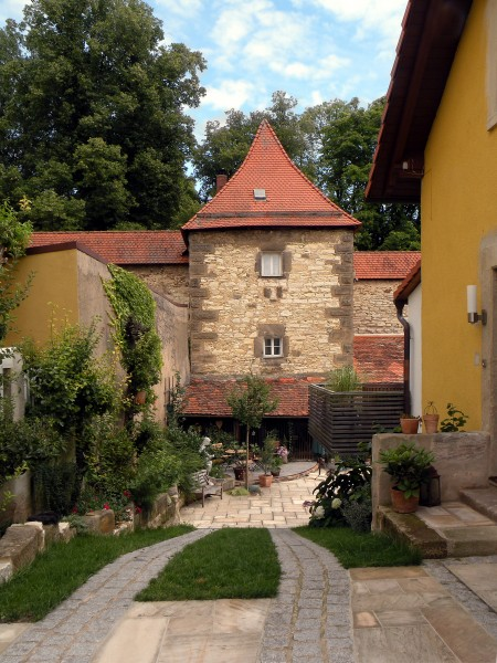 Weissenburg.Small court at city wall