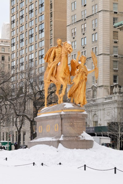 William Tecumseh Sherman Monument New York January 2016 001