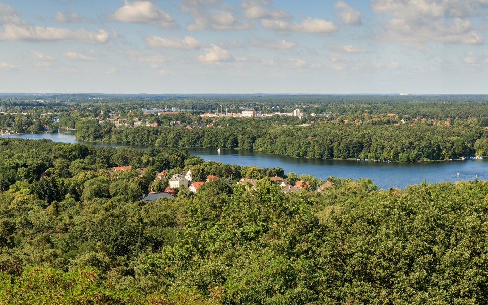 Woltersdorf view from Kranichsberg tower 01