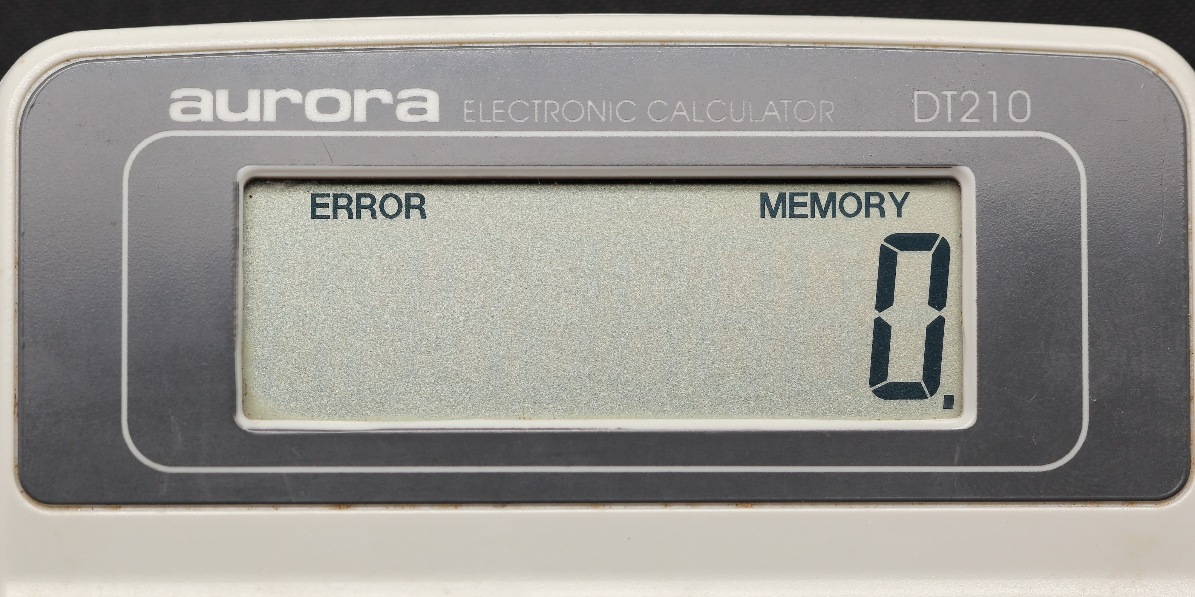 Aurora electronic calculator DT210 09