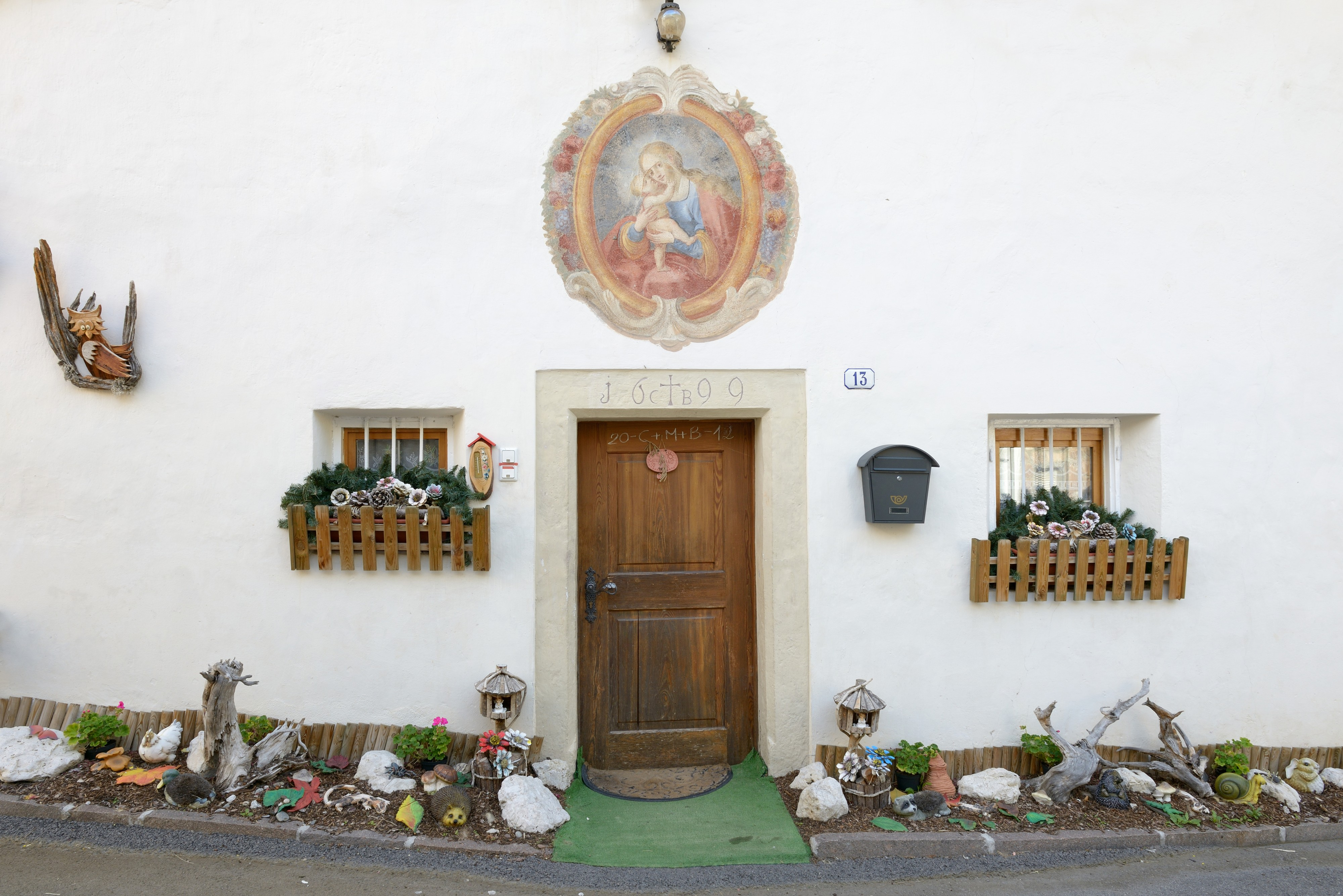 Entrance to the ancient rectory in Bulla