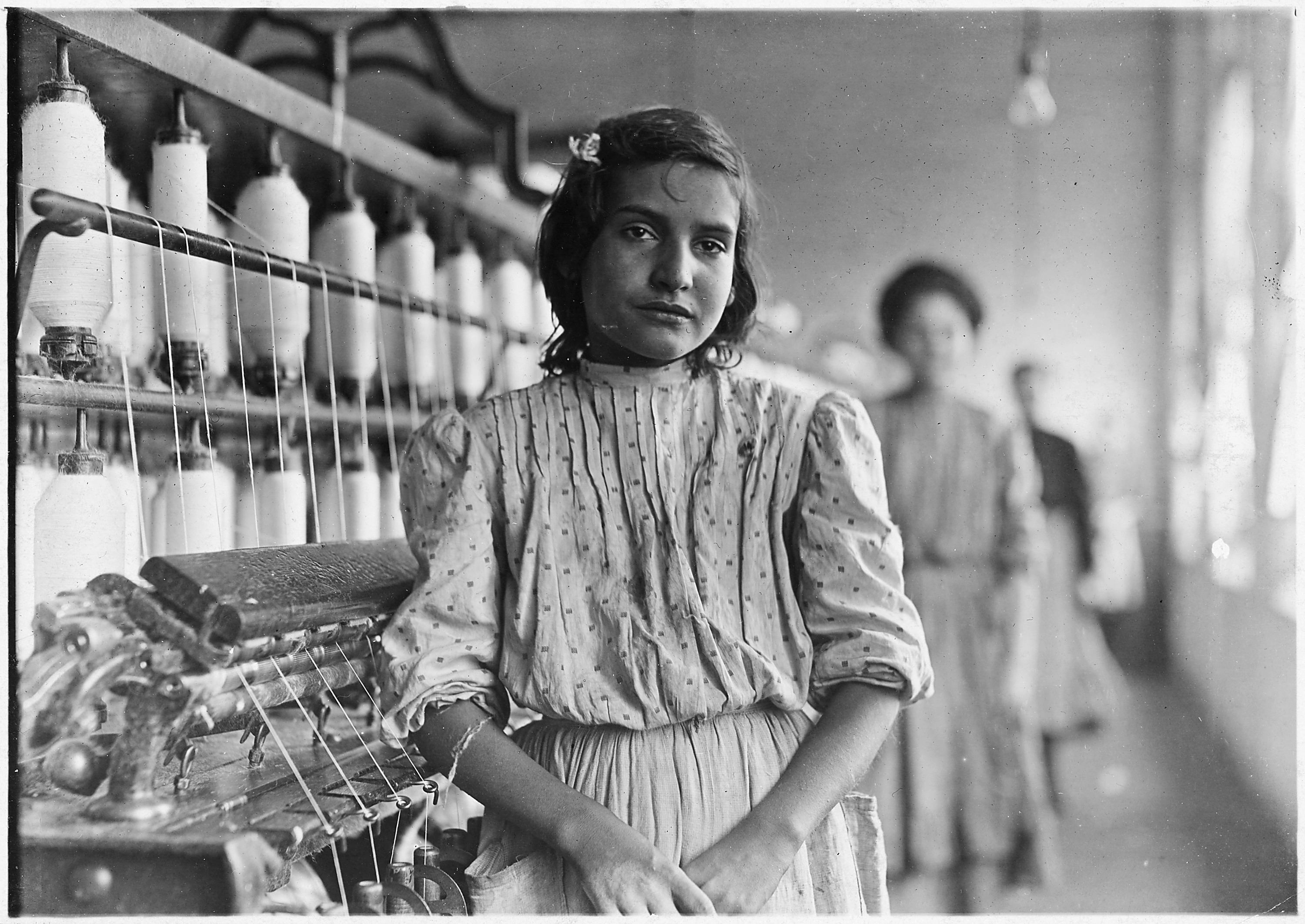 A typical spinner, Mamie . Lancaster Cotton Mills. Lancaster, S.C. - NARA - 523123