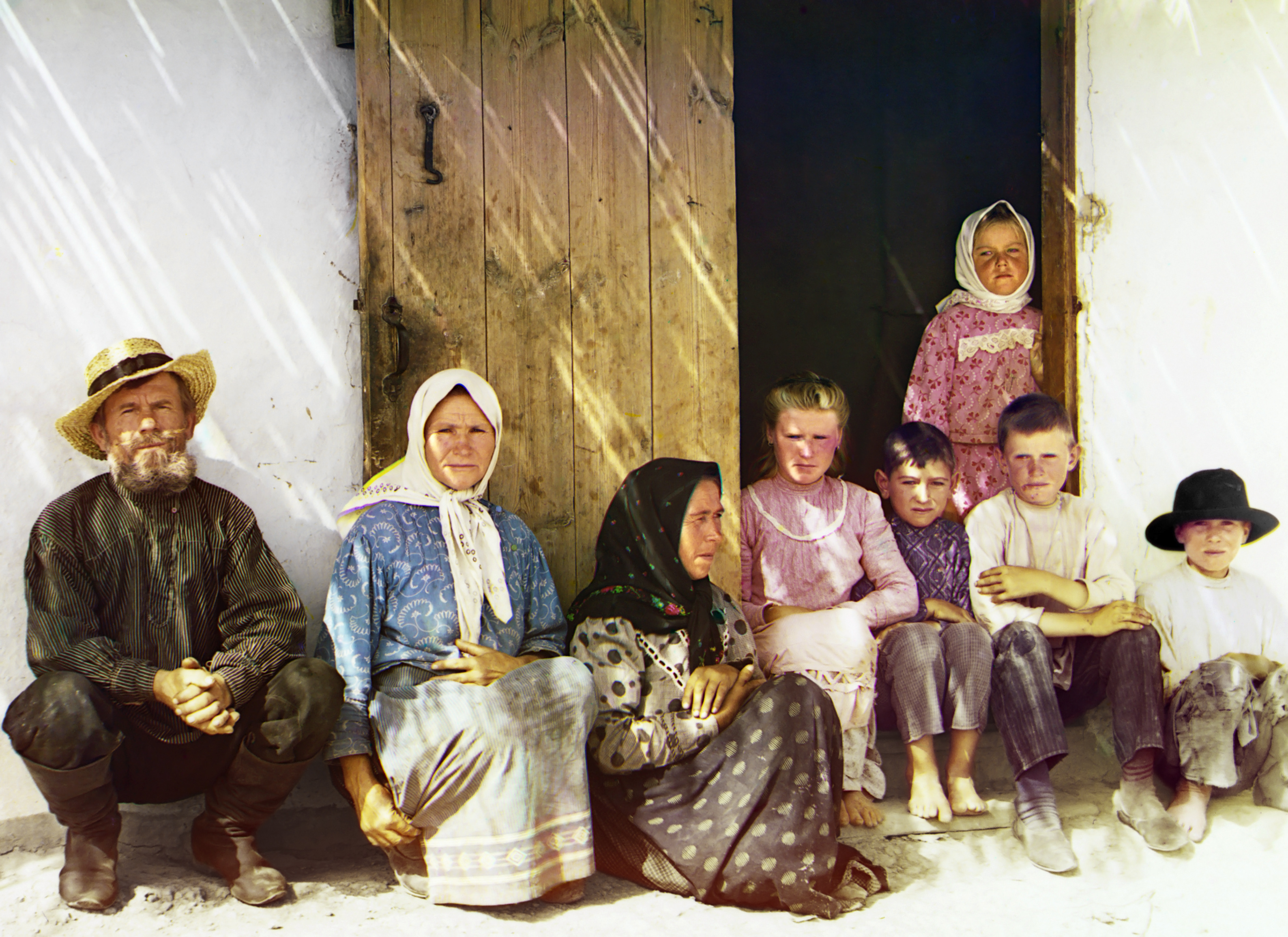 Russian settlers, possibly Molokans, in the Mugan steppe of Azerbaijan by Prokudin-Gorsky