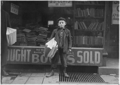 12 year old Newsboy. Hyman Alpert, been selling three years. Spends evenings in Boys Club. New Haven, Conn. - NARA - 523173