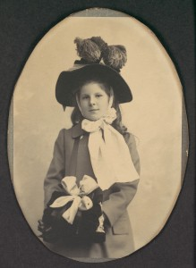 -Girl in Walking Costume with Hat and Muff- MET DP116724