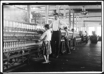 A young spinner in Yazoo City Yarn Mills. Said she was 13, but doubtful. Yazoo City, Miss. - NARA - 523424