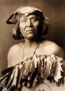 an Apache Indian, Go-Shona, in ceremonial dress. Wellcome V0038485