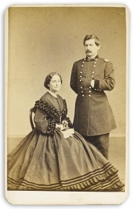 George B. McClellan with his wife by Gutekunst