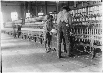 One of the doffers in Vivian Cotton Mills. Cherryville, N.C. - NARA - 523109