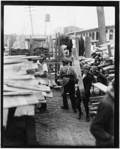 Young boy working for Hickok Lumber Co. Burlington, Vt. - NARA - 523252