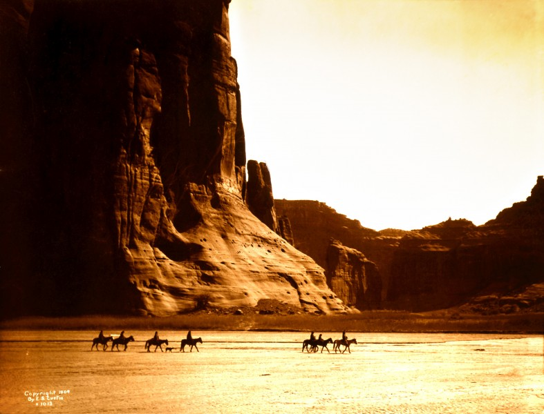 Edward S. Curtis, Canyon de Chelly, Navajo, 1904