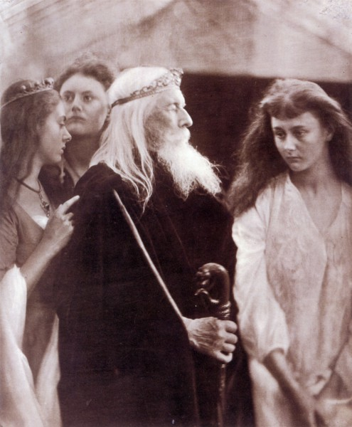 King Lear allotting his Kingdom to his three daughters, by Julia Margaret Cameron