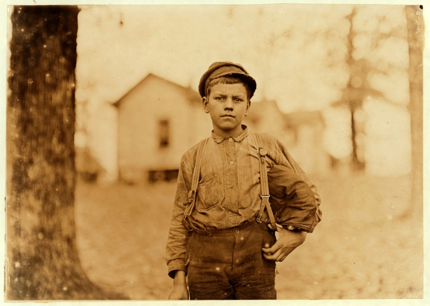 Lewis Hine, Archie Love, mill worker, 14 years old, Chester, South Carolina, 1908