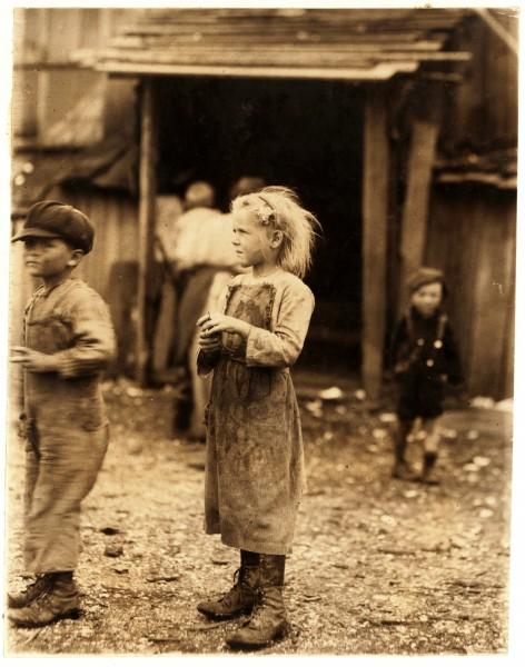 Lewis Hine, Bertha, six year old oyster shucker, Port Royal, South Carolina, 1912