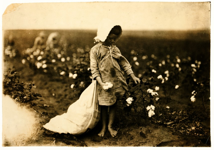 Lewis Hine, Vera Hill, 5 years old, cotton picker, Comanche County, Oklahoma, 1916