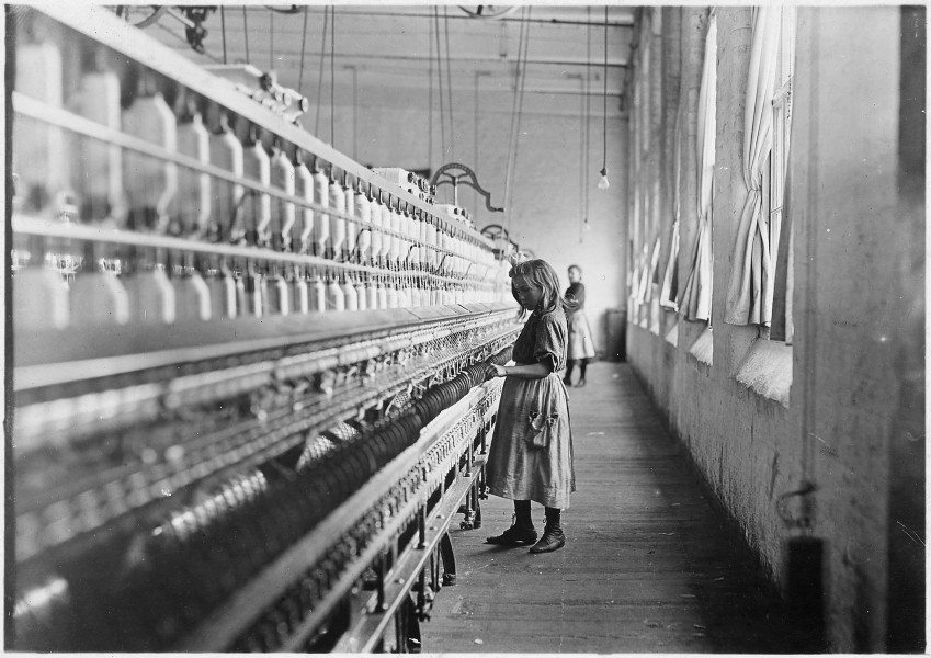 Sadie Pfeifer, 48 inches high. Has worked half a year. One of the many small children at work in Lancaster Cotton... - NARA - 523128