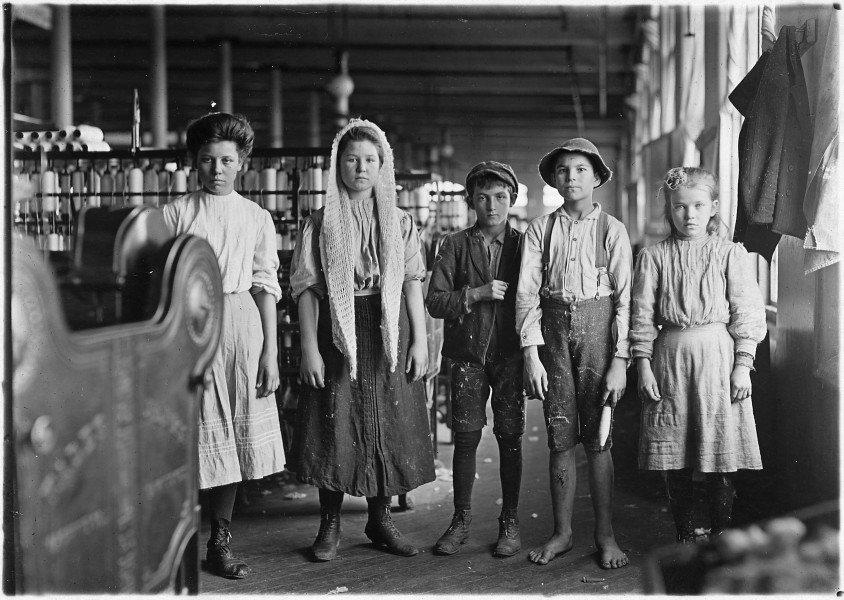 Spinners and doffers in Lancaster Cotton Mills. Dozens of them in this mill. Lancaster, S.C. - NARA - 523121