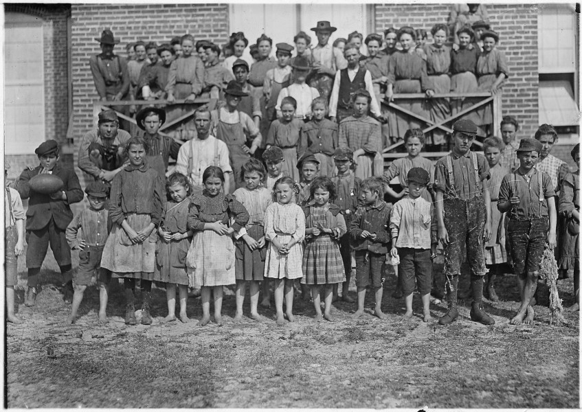The whole force, Tifton Cotton Mill. All these were working and helping regularly in the mill. Tifton, Ga. - NARA - 523151