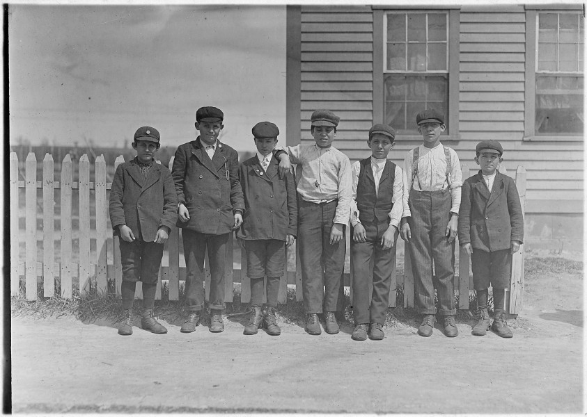These are some of the sweepers and mule room boys working in Valley Queen Mill. Several of the smallest ones there... - NARA - 523184