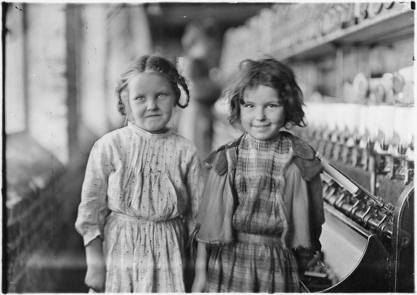 Two of the helpers in the Tifton Cotton Mill. They work regularly. Tifton, Ga. - NARA - 523152