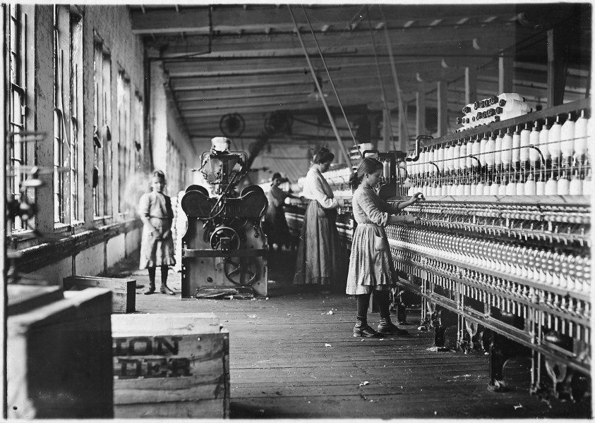 Two of the young spinners in Catawba Cotton Mills. Newton, N.C. - NARA - 523142