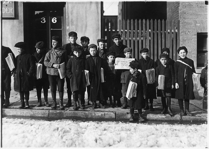 Waiting for their papers. 3 of these were 8 years old. Some were 9 years old. Hartford, Conn. - NARA - 523169