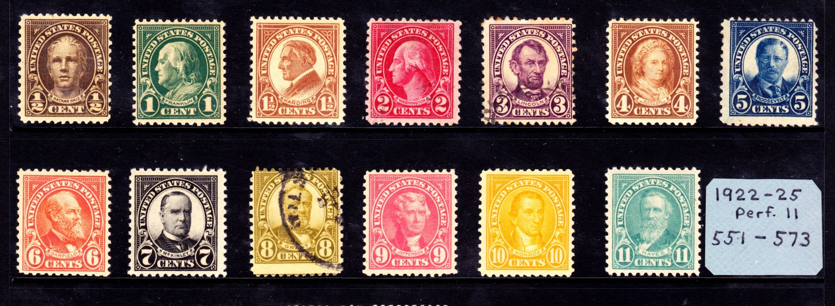 Regular Issue 1920s 1-11c