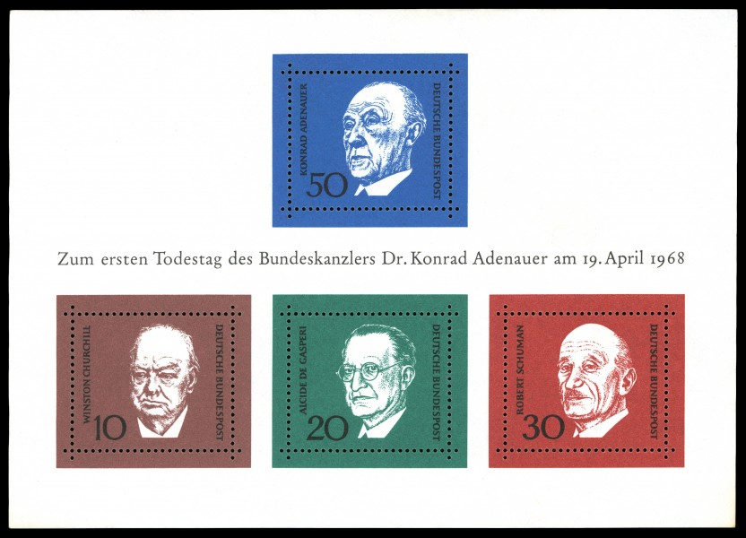 Stamps of Germany (BRD) 1968, MiNr Block 4