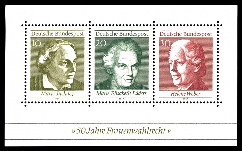 Stamps of Germany (BRD) 1969, MiNr Block 5